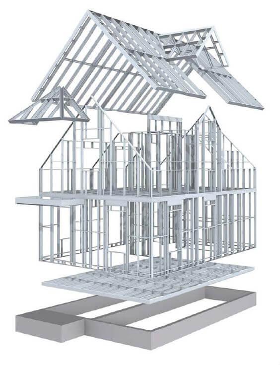 framing house -  framing-house